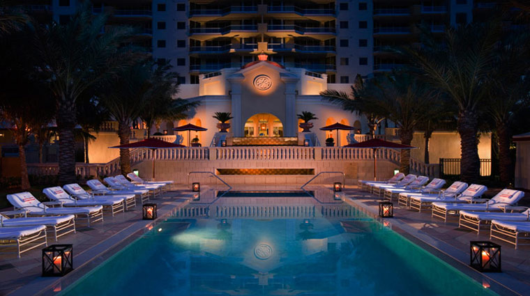 Acqualina Resort & Spa Pool at Night