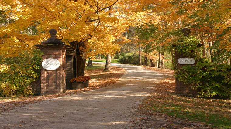 Blantyre Entrance in Fall