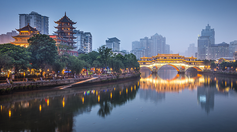 Chengu, China on the Jin River