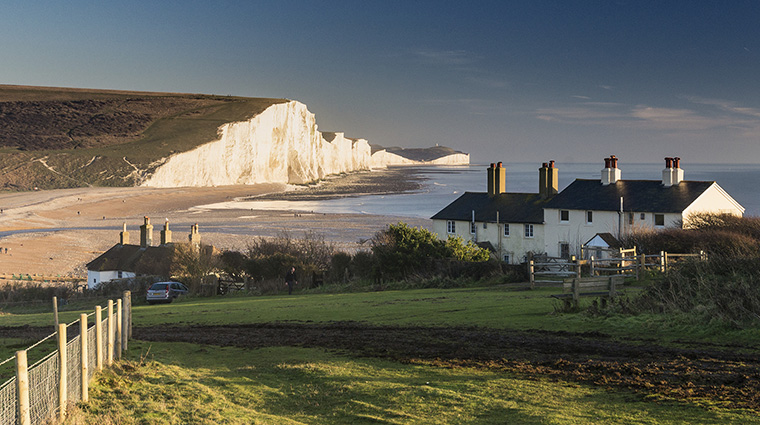 Seven Sisters Cliff with Coastguard Cottages