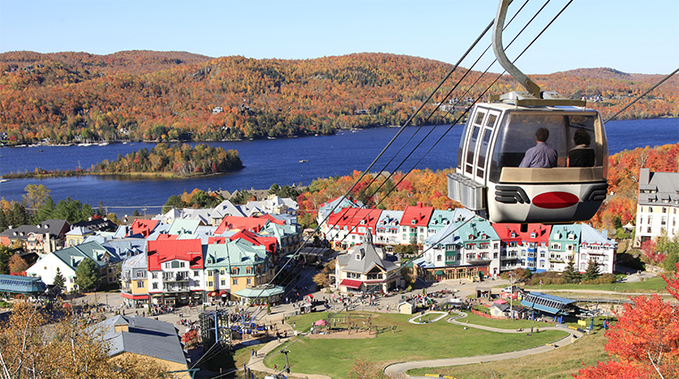 Aerial View of Mont Tremblant, Quebec