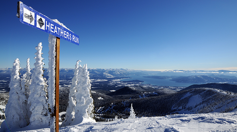 Heathers Run on Schweitzer Mountain