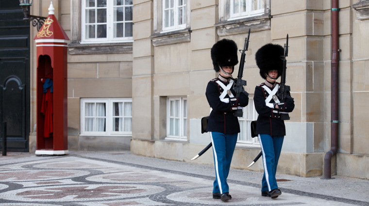 Royal Guards Walking