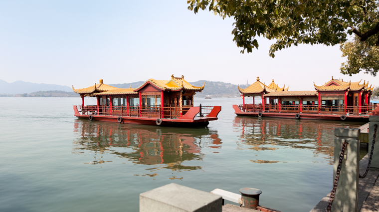 Tour Boats on West Lake