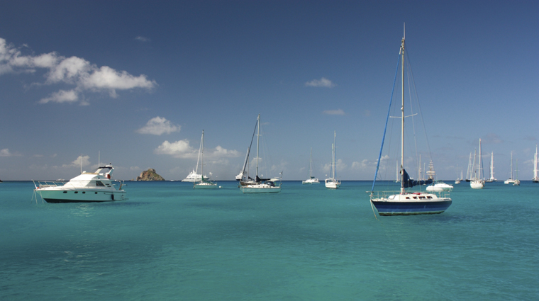 Boats Off the Coast of St. Barts