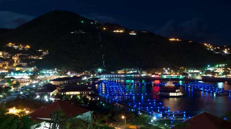 St. Thomas Pier at Night