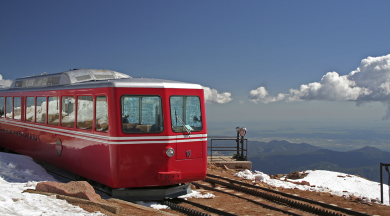 Pikes Peak Cog Railway in Colorado Springs