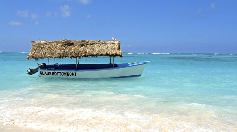 Glass Bottom Boat on Punta Cana Beach