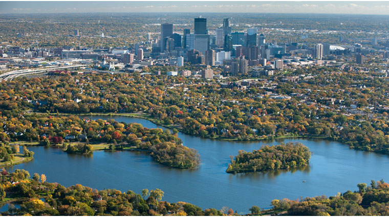 Aerial View of Minneapolis