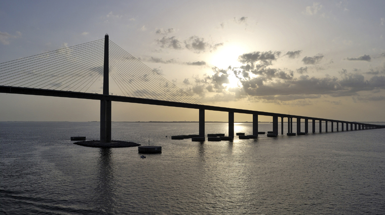 Bob Graham Sunshine Skyway Bridge at Dusk