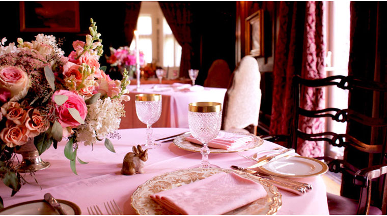 Dining Room at Blantyre Table Setting