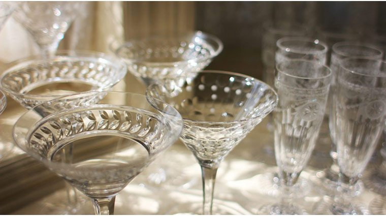 Dining Room at Blantyre Glassware