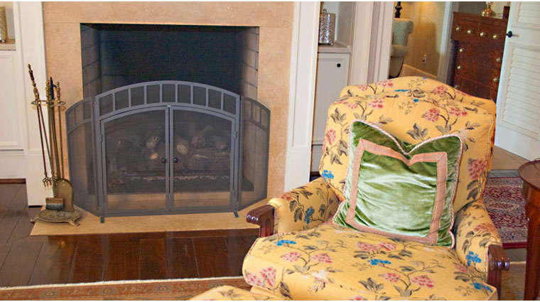 The Sanctuary at Kiawah Island Guestroom Fireplace