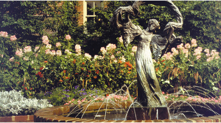 The American Club Garden Fountain