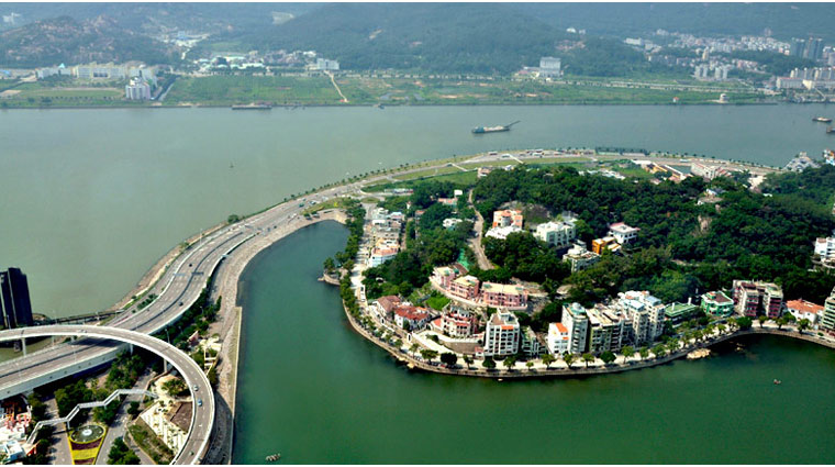 Aerial View of Macau, China