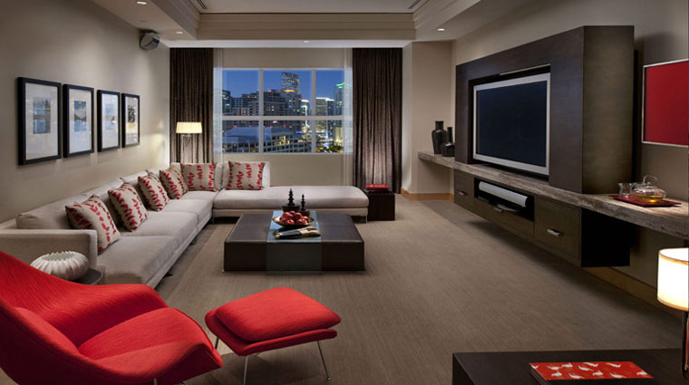 Mandarin Oriental Miami Guest Suite Media Room