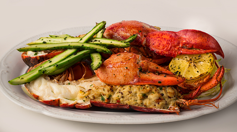 Crab-Stuffed Maine Lobster