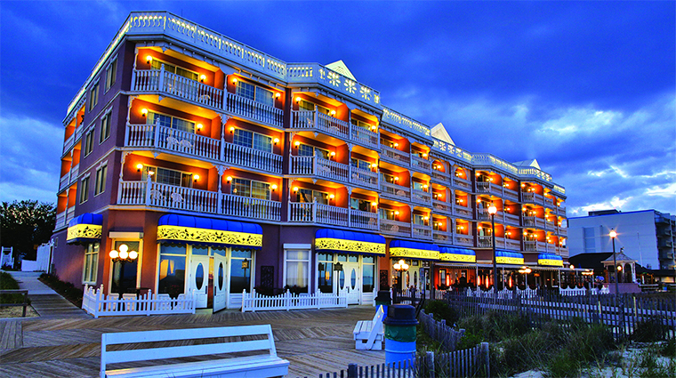 Boardwalk Plaza Hotel, Rehoboth Beach, at Dusk