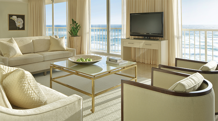 Four Seasons Resort Palm Beach Deluxe Oceanfront Two Bedroom Suite Living Room