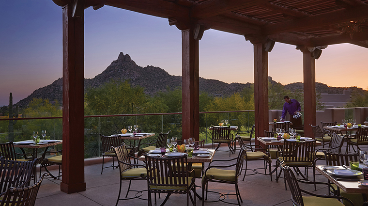 Four Seasons Resort Scottsdale at Troon North Talavera Terrace Seating