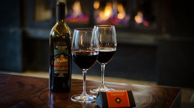 Lumière Telluride The Little Bar Wine by the Fire