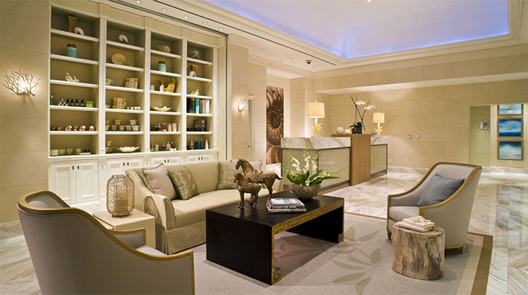 Palm Beach Spa Reception and Waiting Area