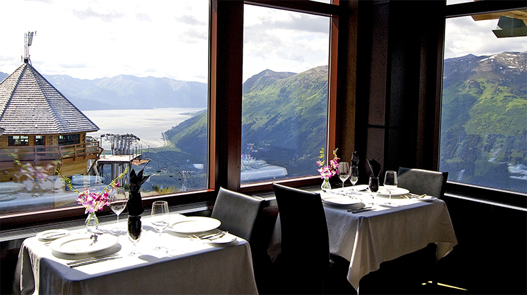 Seven Glaciers Restaurant Dining Room Views