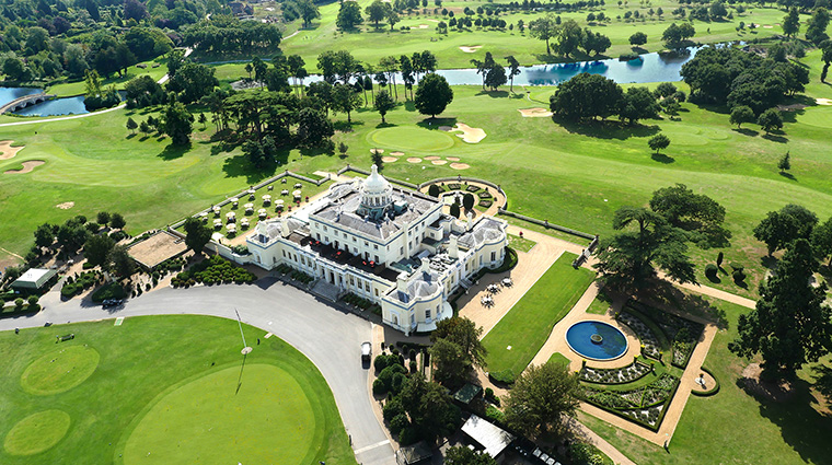 Mansion Aerial View