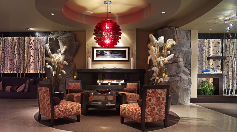 T Spa Fireplace and Sitting Area