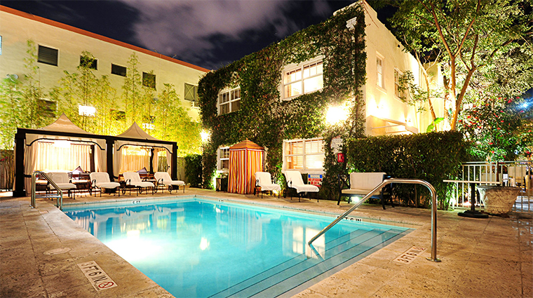 The Angler's Boutique Resort Pool in Miami Beach, Florida