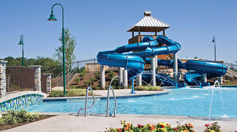 Outdoor Pool & Waterslide