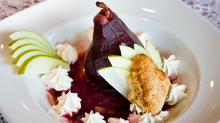 Victoria's Restaurant Poached Pear
