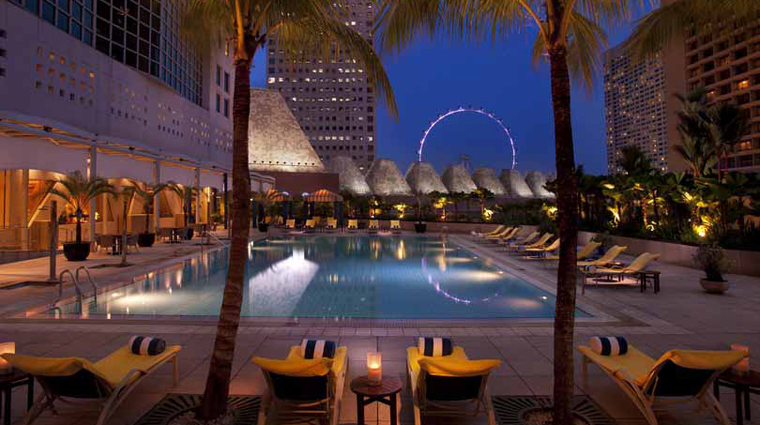 Conrad Centennial Singapore Hotel Outdoor Pool at Night