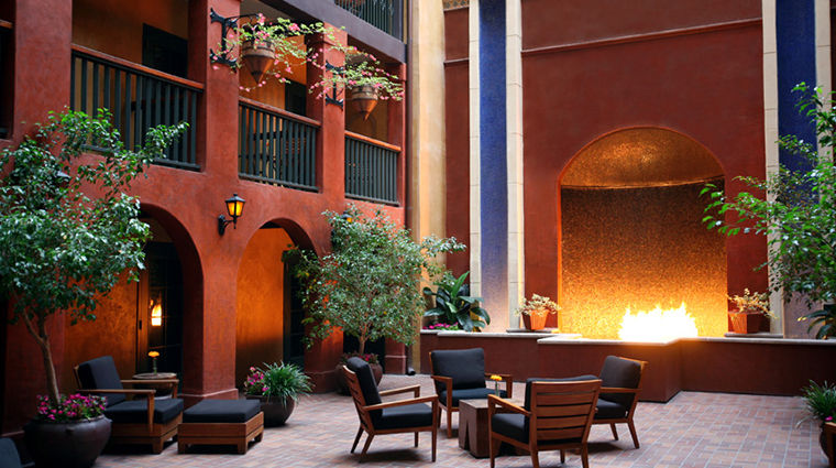 Hotel Valencia Riverwalk's Courtyard in San Antonio, Texas