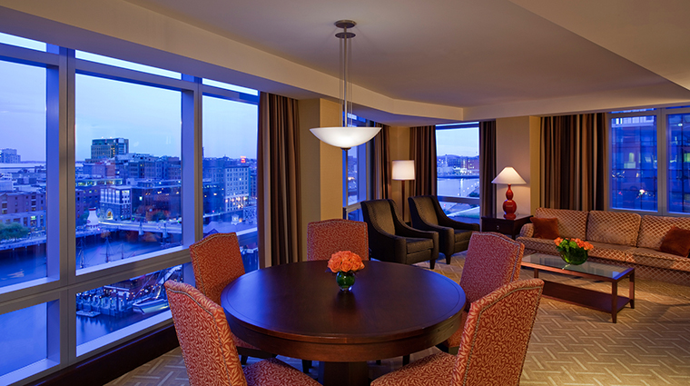 InterContinental Boston Superior Suite Living Room