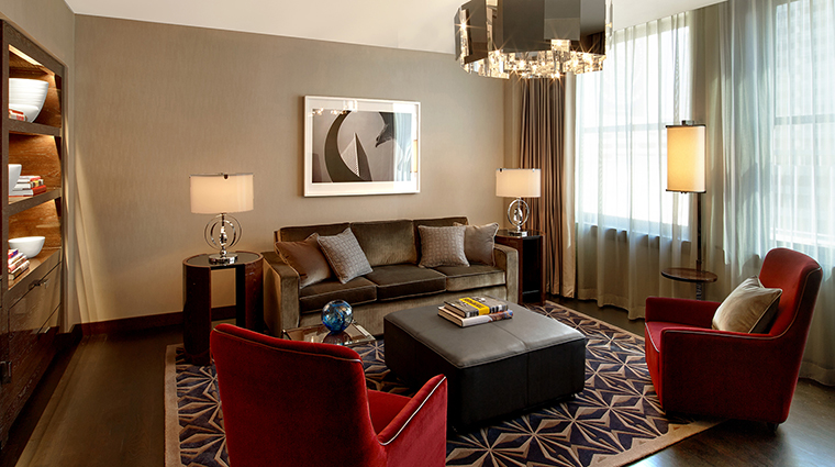 The Joule Deluxe Suite Living Area of East Tower