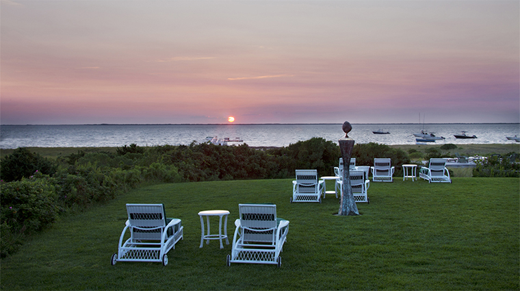 The Wauwinet Inn Sunset Views, Nantucket Island Resorts