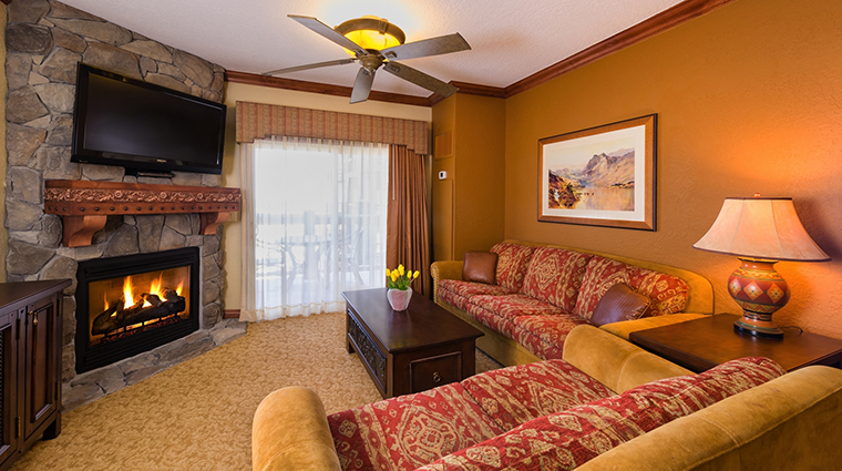 Westgate Park City Resort & Spa Luxury One Bedroom Villa Living Room