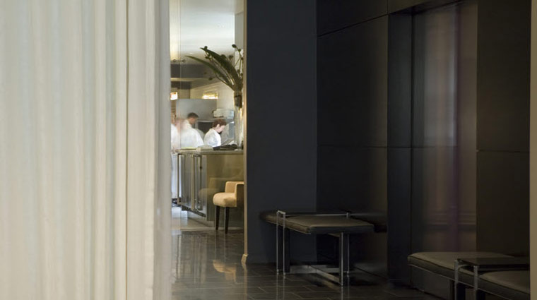 Alinea Lobby and Kitchen