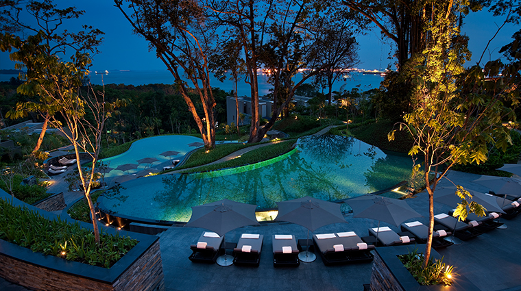 Auriga Spa Pools at Night