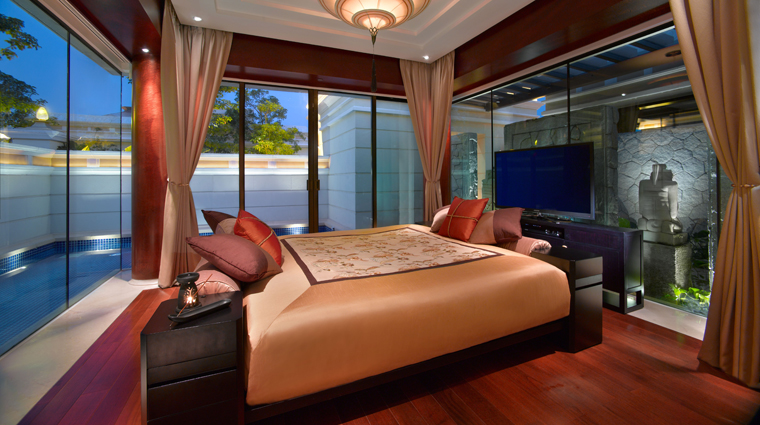 Banyan Tree Macau Sanctuary Pool Villa Master Bedroom