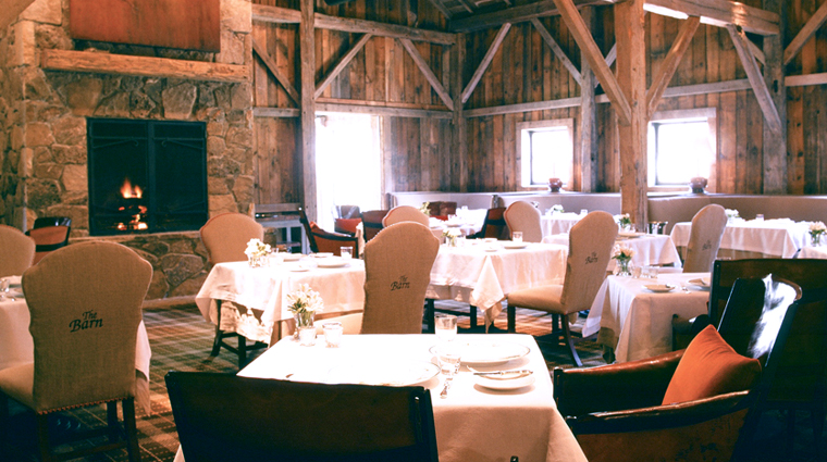 The Barn at Blackberry Farm Fireside Dining