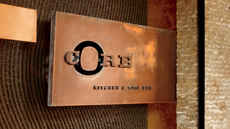 CORE Kitchen & Wine Bar Signage