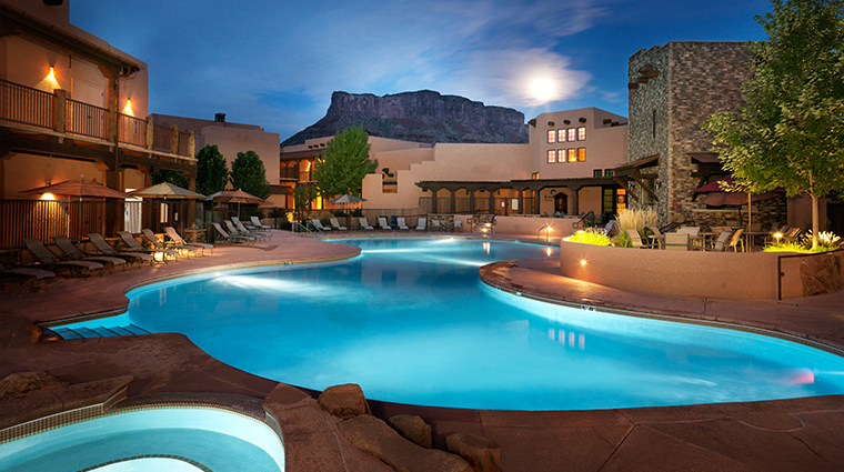 gateway canyons resort pool in the evening - Canyons Resort Hotels