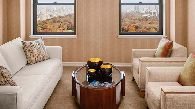 JW Marriott Essex House New York Central Park Suite Living Room