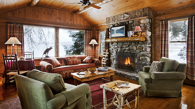 Lake Placid Lodge Lookout Cabin Living Room