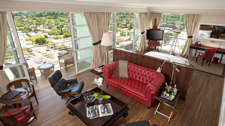 Mr. C Beverly Hills Signature Suite Sitting Area