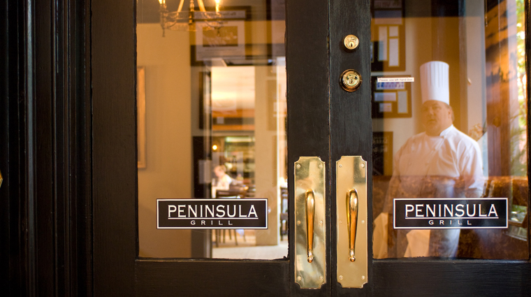 Peninsula Grill Entrance