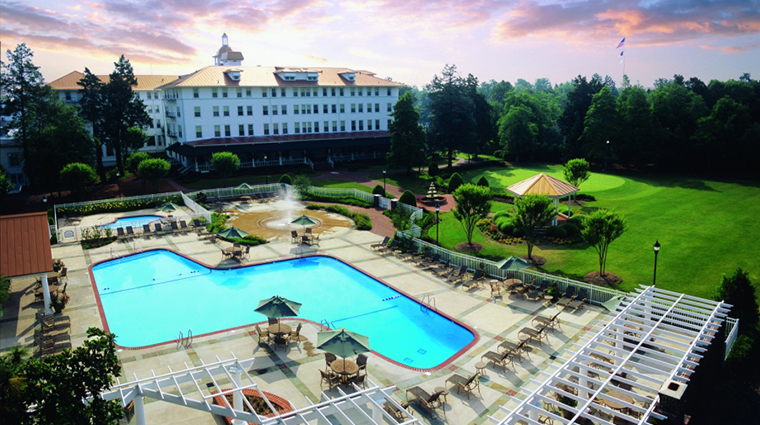 The Carolina Hotel at Pinehurst Resort Aerial View of Pool