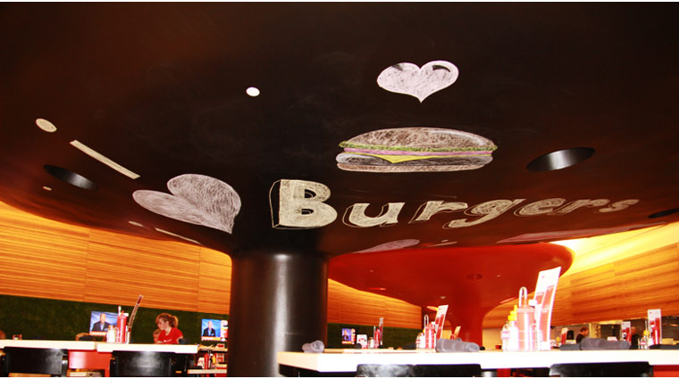 I Love Burgers Ceiling Art